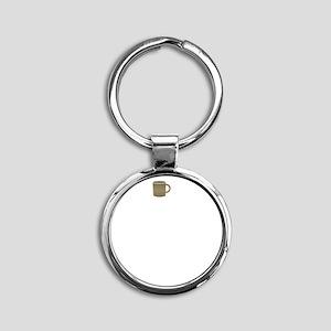 FIN-keep-calm-kettle-on-WonB Round Keychain