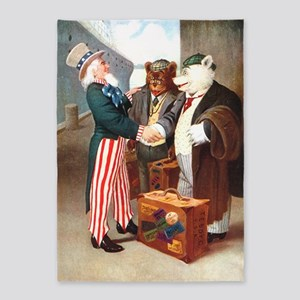 uncle sam rb abroad 5'x7'Area Rug