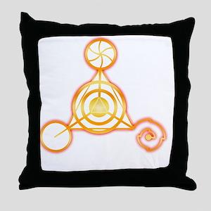 Tetrahedron Crop-Circle Throw Pillow