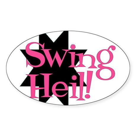 Oval Swing Heil Sticker!