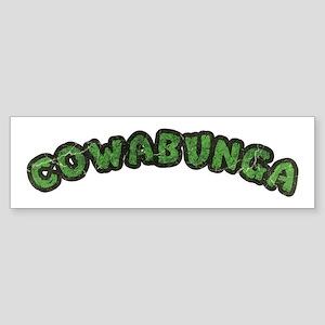 Cowabunga | 80s Turtle Shell Design Bumper Sticker
