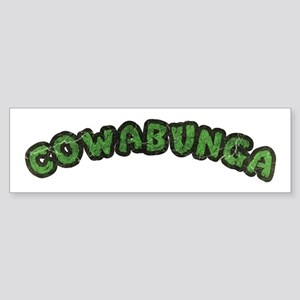 Cowabunga | 80s Turtle Shell Design Bumper Sticker