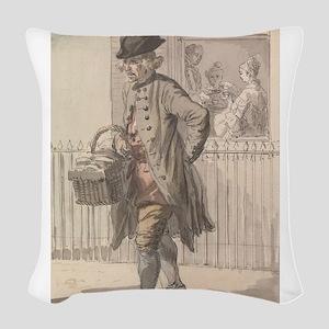 A Muffin Man - Paul Sandby - c1759 Woven Throw Pil