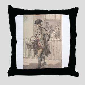 A Muffin Man - Paul Sandby - c1759 Throw Pillow