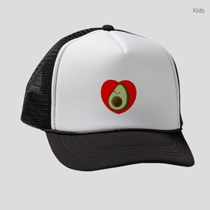 Cute Avocado In Red Heart Kids Trucker hat