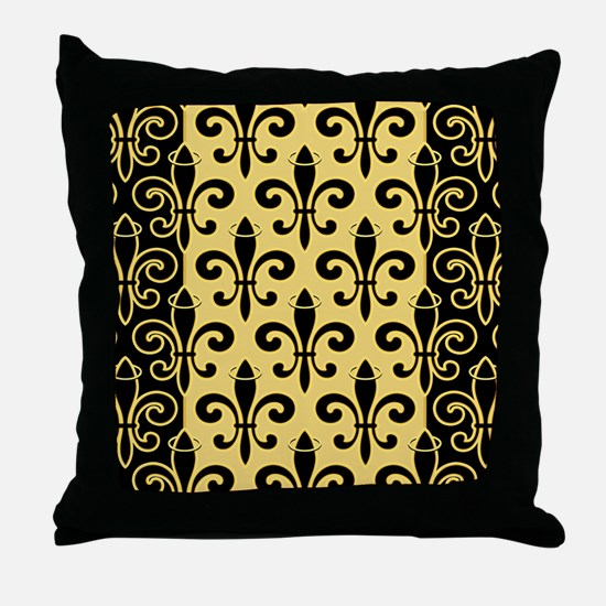 FleurStBGptBGsq Throw Pillow
