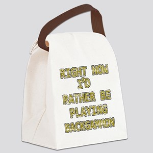 backgammon Canvas Lunch Bag