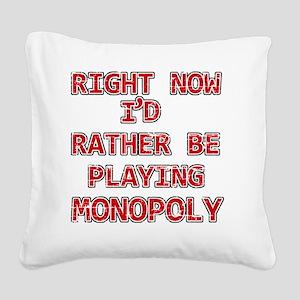 monopoly Square Canvas Pillow