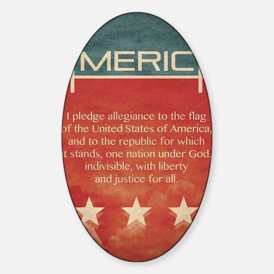 jan12_america_grunge Sticker (Oval)