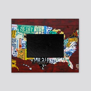 License Plate Map of USA 2012 Versio Picture Frame