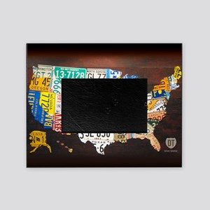 United States License Plate Map Picture Frame