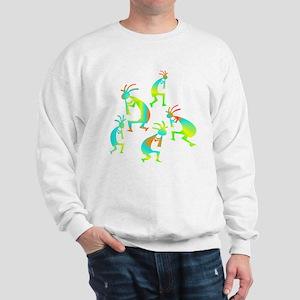 Lime Green Kokopelli Sweatshirt