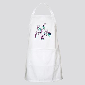 Purple and Green Kokopelli BBQ Apron