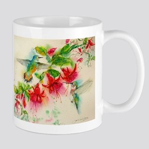 Hummingbirds in Fuschia Garden 2 Mugs