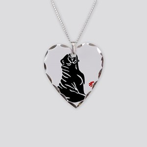 bulldog-clip3-large1-butterfl Necklace Heart Charm