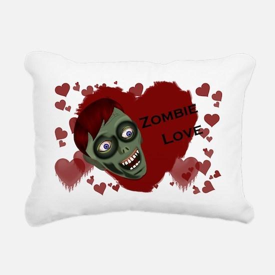 zombieLove_sticker_full Rectangular Canvas Pillow