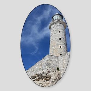 El Morrow Castle in Havana Cuba Sticker (Oval)