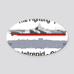 Essex-Intrepid-Straight_T-Shirt Oval Car Magnet