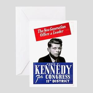 ART JFK for Congress Greeting Card