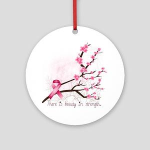 breastcancerawareness Round Ornament