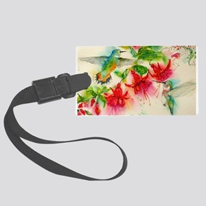 Hummingbirds in Fuschia Garden 2 Luggage Tag