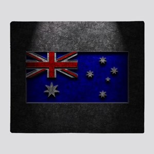 Australian Flag Stone Texture Throw Blanket