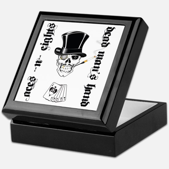 aces -n- eights dead mans hand - blac Keepsake Box