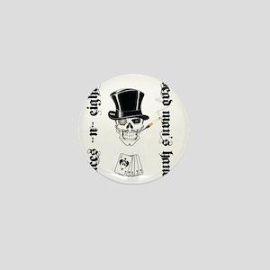 aces -n- eights dead mans hand - black Mini Button