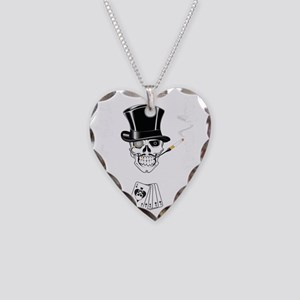 aces -n- eights dead mans han Necklace Heart Charm