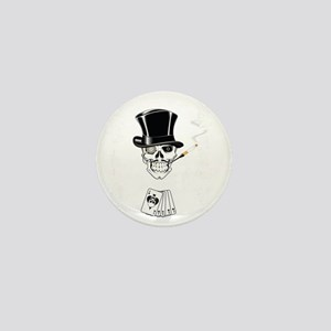 aces -n- eights dead mans hand - white Mini Button