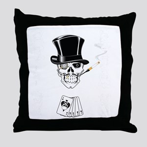 aces -n- eights dead mans hand - whit Throw Pillow