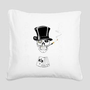 aces -n- eights dead mans han Square Canvas Pillow