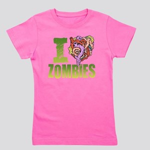 I Heart Zombies Girl's Tee