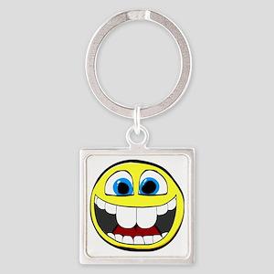 Smilie1-Happy Square Keychain