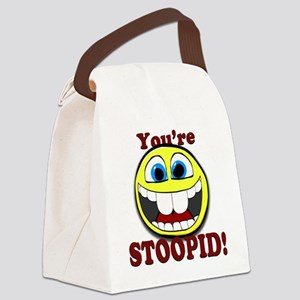 Smilie1-Happy-Stoopid Canvas Lunch Bag
