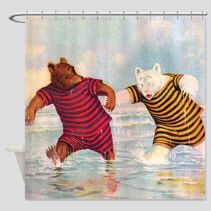 RB_atlantic city bears_SQ Shower Curtain