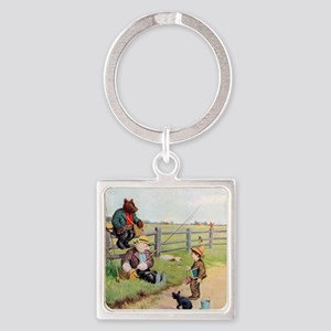 RB_bears gone fishing_SQ Square Keychain