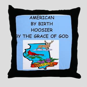 HOOSIER Throw Pillow