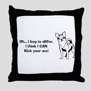 Chihuahuas Kick Butt Throw Pillow