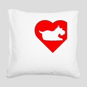 Schnauzer-Darks Square Canvas Pillow