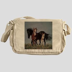 Wild Horses Pillow Messenger Bag