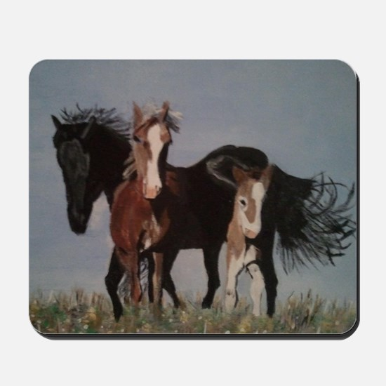 Wild Horses Pillow Mousepad