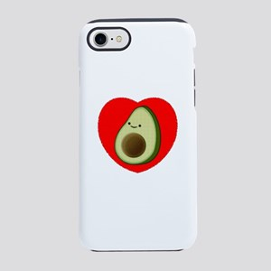 Cute Avocado In Red Heart iPhone 7 Tough Case