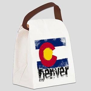 Denver Grunge Flag Canvas Lunch Bag