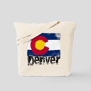Denver Grunge Flag Tote Bag