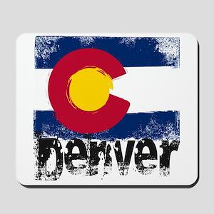 Denver Grunge Flag Mousepad