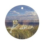 Tiger on the Beach Ornament (Round)