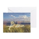 Tiger on the Beach Greeting Cards (Pk of 10)