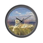Tiger on the Beach Wall Clock