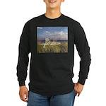 Tiger on the Beach Long Sleeve Dark T-Shirt